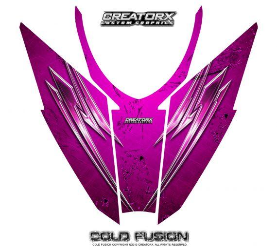 Arctic Cat Pro Climb Cross 2012 Hood CreatorX Graphics Kit Cold Fusion Pink 570x513 - Arctic Cat ProClimb ProCross SnoPro 2012-2016 Hood Graphics