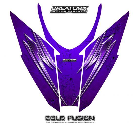 Arctic Cat Pro Climb Cross 2012 Hood CreatorX Graphics Kit Cold Fusion Purple 570x513 - Arctic Cat ProClimb ProCross SnoPro 2012-2016 Hood Graphics
