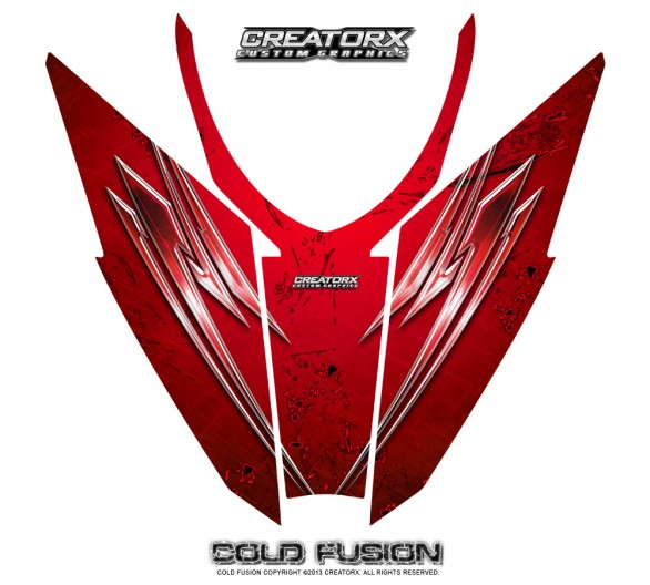 Arctic-Cat-Pro-Climb-Cross-2012-Hood-CreatorX-Graphics-Kit-Cold-Fusion-Red