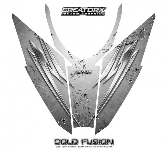 Arctic-Cat-Pro-Climb-Cross-2012-Hood-CreatorX-Graphics-Kit-Cold-Fusion-White