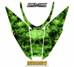 Arctic-Cat-Pro-Climb-Cross-2012-Hood-CreatorX-Graphics-Kit-Inferno-Green