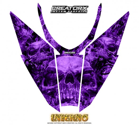 Arctic-Cat-Pro-Climb-Cross-2012-Hood-CreatorX-Graphics-Kit-Inferno-Purple