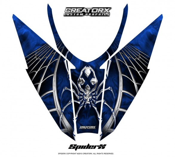Arctic-Cat-Pro-Climb-Cross-2012-Hood-CreatorX-Graphics-Kit-SpiderX_Blue