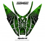 Arctic-Cat-Pro-Climb-Cross-2012-Hood-CreatorX-Graphics-Kit-SpiderX_Green