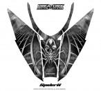 Arctic-Cat-Pro-Climb-Cross-2012-Hood-CreatorX-Graphics-Kit-SpiderX_White