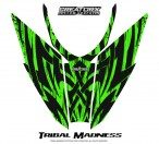 Arctic-Cat-Pro-Climb-Cross-2012-Hood-CreatorX-Graphics-Kit-Tribal-Madness-Green