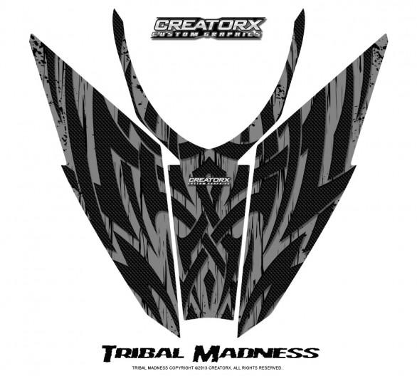 Arctic-Cat-Pro-Climb-Cross-2012-Hood-CreatorX-Graphics-Kit-Tribal-Madness-Silver