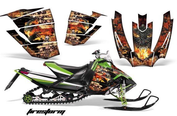 Arctic Cat Sno Pro AMR Graphics Kit Firestorm B 2 570x376 - Arctic Cat Sno Pro Race 500 600 Graphics