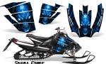Arctic Cat SnoPro Race CreatorX Graphics Kit Skull Chief Blue 150x90 - Arctic Cat Sno Pro Race 500 600 Graphics