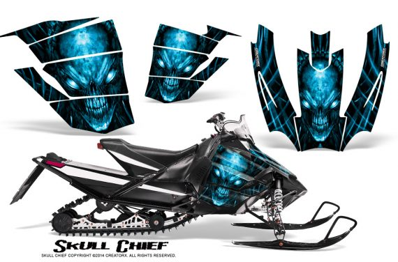 Arctic-Cat-SnoPro-Race-CreatorX-Graphics-Kit-Skull-Chief-BlueIce