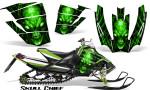Arctic Cat SnoPro Race CreatorX Graphics Kit Skull Chief Green 150x90 - Arctic Cat Sno Pro Race 500 600 Graphics