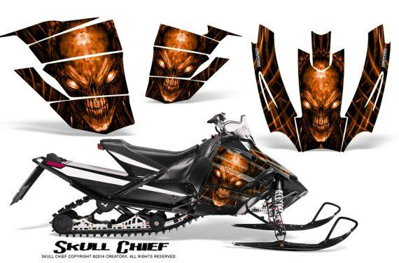 Arctic-Cat-SnoPro-Race-CreatorX-Graphics-Kit-Skull-Chief-Orange