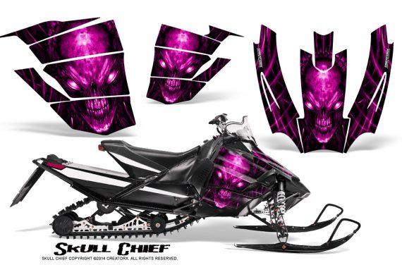 Arctic-Cat-SnoPro-Race-CreatorX-Graphics-Kit-Skull-Chief-Pink