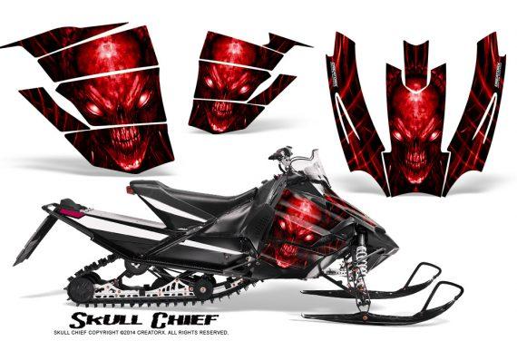 Arctic-Cat-SnoPro-Race-CreatorX-Graphics-Kit-Skull-Chief-Red