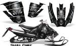 Arctic Cat SnoPro Race CreatorX Graphics Kit Skull Chief Silver 150x90 - Arctic Cat Sno Pro Race 500 600 Graphics
