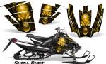 Arctic Cat SnoPro Race CreatorX Graphics Kit Skull Chief Yellow 150x90 - Arctic Cat Sno Pro Race 500 600 Graphics
