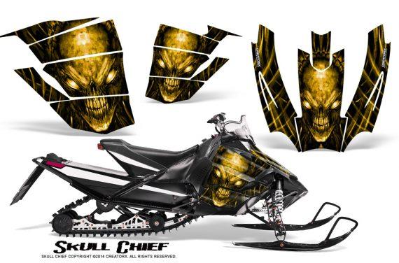 Arctic-Cat-SnoPro-Race-CreatorX-Graphics-Kit-Skull-Chief-Yellow