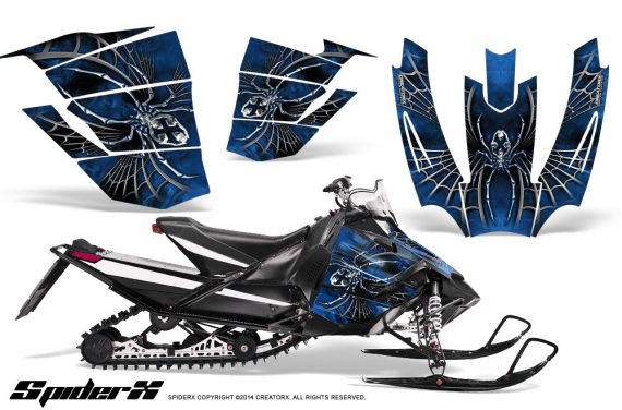 Arctic-Cat-SnoPro-Race-CreatorX-Graphics-Kit-SpiderX-Blue