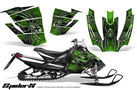 Arctic-Cat-SnoPro-Race-CreatorX-Graphics-Kit-SpiderX-Green