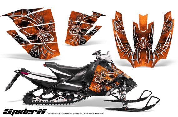Arctic-Cat-SnoPro-Race-CreatorX-Graphics-Kit-SpiderX-Orange