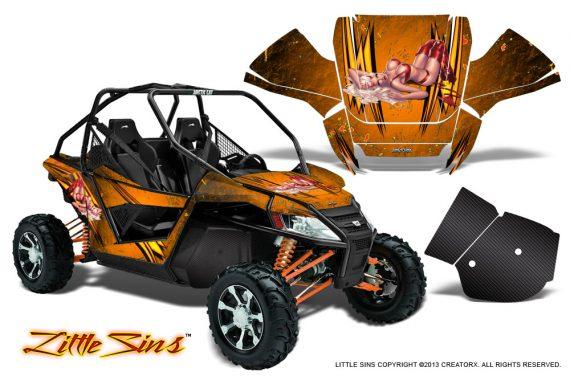 Arctic Cat Wildcat CreatorX Graphics Kit Little Sins Orange 570x376 - Arctic Cat Wildcat EPS 2012-2015 Graphics