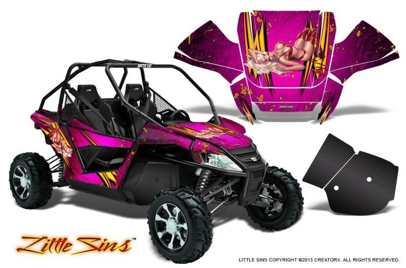Arctic-Cat-Wildcat-CreatorX-Graphics-Kit-Little-Sins-Pink