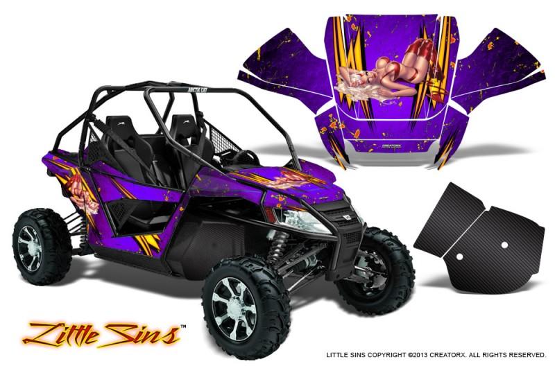 Arctic-Cat-Wildcat-CreatorX-Graphics-Kit-Little-Sins-Purple