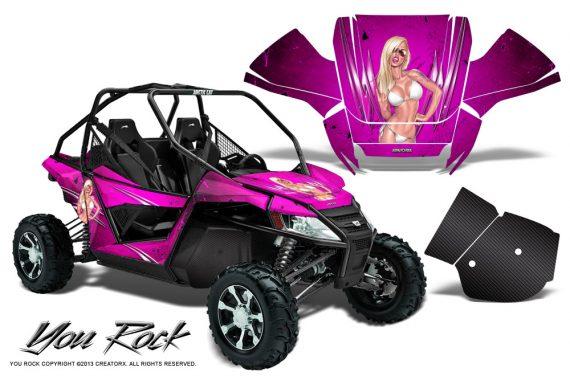 Arctic Cat Wildcat CreatorX Graphics Kit You Rock Pink 570x376 - Arctic Cat Wildcat EPS 2012-2015 Graphics