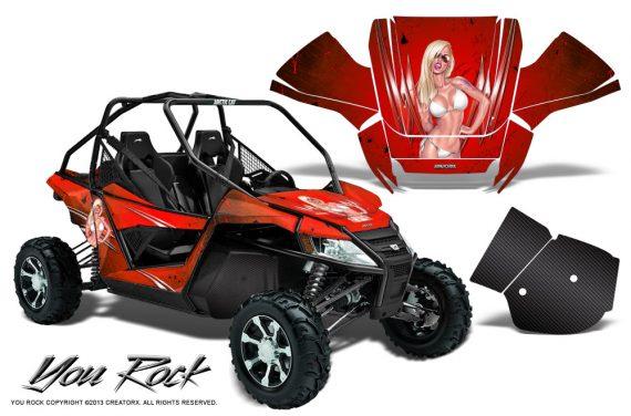 Arctic Cat Wildcat CreatorX Graphics Kit You Rock Red 570x376 - Arctic Cat Wildcat EPS 2012-2015 Graphics