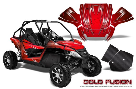 Arctic-Cat-Wildcat-Graphics-Kit-Cold-Fusion-Red