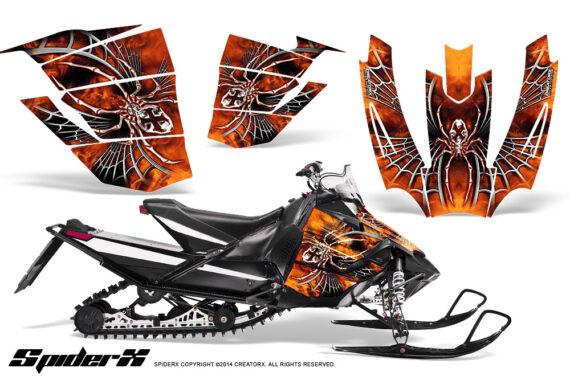 Arctic Cat SnoPro Race CreatorX Graphics Kit SpiderX Orange 570x376 - Arctic Cat Sno Pro Race 500 600 Graphics