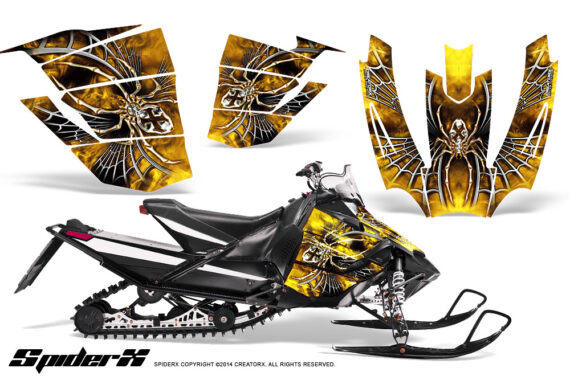 Arctic Cat SnoPro Race CreatorX Graphics Kit SpiderX Yellow 570x376 - Arctic Cat Sno Pro Race 500 600 Graphics