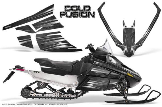 Arctic Cat F Series CreatorX Graphics Kit Cold Fusion Black 570x376 - Arctic Cat F Series F Series Z1 Bearcat 2000 Lynx Graphics