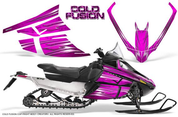 Arctic Cat F Series CreatorX Graphics Kit Cold Fusion Pink 570x376 - Arctic Cat F Series F Series Z1 Bearcat 2000 Lynx Graphics