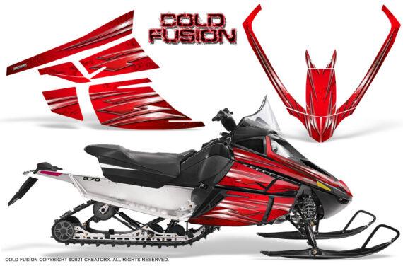 Arctic Cat F Series CreatorX Graphics Kit Cold Fusion Red 570x376 - Arctic Cat F Series F Series Z1 Bearcat 2000 Lynx Graphics