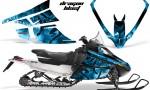 Arctic Cat F Series Graphics Kit Dragonblast BlueIce 150x90 - Arctic Cat F Series F Series Z1 Bearcat 2000 Lynx Graphics