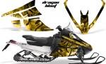Arctic Cat F Series Graphics Kit Dragonblast Yellow 150x90 - Arctic Cat F Series F Series Z1 Bearcat 2000 Lynx Graphics