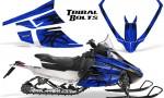 Arctic Cat F Series Graphics Kit Tribal Bolts Blue 150x90 - Arctic Cat F Series F Series Z1 Bearcat 2000 Lynx Graphics