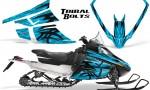 Arctic Cat F Series Graphics Kit Tribal Bolts BlueIce 150x90 - Arctic Cat F Series F Series Z1 Bearcat 2000 Lynx Graphics