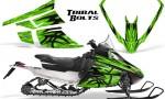 Arctic Cat F Series Graphics Kit Tribal Bolts Green 150x90 - Arctic Cat F Series F Series Z1 Bearcat 2000 Lynx Graphics