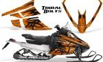 Arctic Cat F Series Graphics Kit Tribal Bolts Orange 150x90 - Arctic Cat F Series F Series Z1 Bearcat 2000 Lynx Graphics
