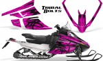 Arctic Cat F Series Graphics Kit Tribal Bolts Pink 150x90 - Arctic Cat F Series F Series Z1 Bearcat 2000 Lynx Graphics