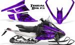 Arctic Cat F Series Graphics Kit Tribal Bolts Purple 150x90 - Arctic Cat F Series F Series Z1 Bearcat 2000 Lynx Graphics