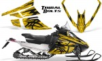 Arctic Cat F Series Graphics Kit Tribal Bolts Yellow 150x90 - Arctic Cat F Series F Series Z1 Bearcat 2000 Lynx Graphics