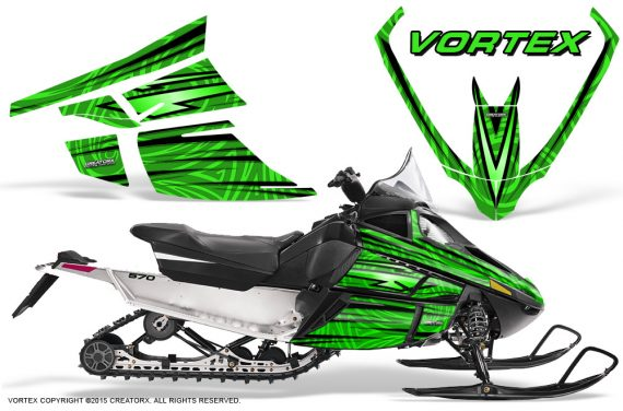 Arctic_Cat_F_Series_Graphics_Kit_Vortex_Green