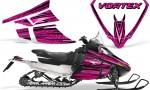 Arctic Cat F Series Graphics Kit Vortex Pink 150x90 - Arctic Cat F Series F Series Z1 Bearcat 2000 Lynx Graphics