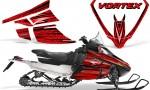 Arctic Cat F Series Graphics Kit Vortex Red 150x90 - Arctic Cat F Series F Series Z1 Bearcat 2000 Lynx Graphics