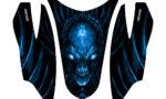 Arctic Cat Firecat Hood Graphics Kit Skull Chief Blue 150x90 - Arctic Cat Firecat Sabercat F5 F6 F7 2003-2006 Hood Graphics