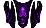 Arctic Cat Firecat Hood Graphics Kit Skull Chief Purple 150x90 - Arctic Cat Firecat Sabercat F5 F6 F7 2003-2006 Hood Graphics