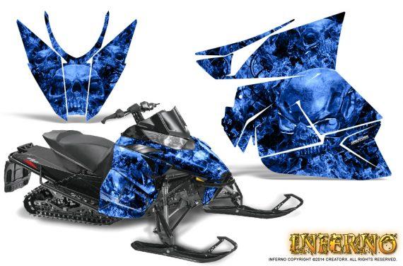 Arctic Cat Pro Climb Cross 2012 Graphics Kit Inferno Blue 570x376 - Arctic Cat ProClimb ProCross SnoPro ZR-XF-M 2012-2016 Graphics